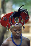 Mujer joven del Zulú Imágenes de archivo libres de regalías