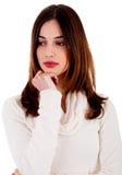 Mujer joven deprimida Foto de archivo libre de regalías