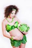 Mujer joven embarazada hermosa Fotografía de archivo