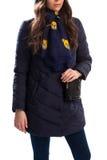 Mujer joven en abajo chaqueta Imagenes de archivo