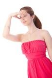 Mujer joven en alineada elegante Imágenes de archivo libres de regalías