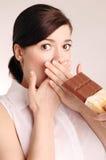 Mujer joven en dieta fotos de archivo