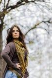 Mujer joven en el bosque Imágenes de archivo libres de regalías