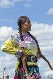Mujer joven en el Powwow Foto de archivo libre de regalías