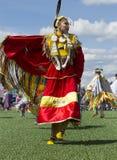 Mujer joven en el Powwow del nativo americano Fotografía de archivo