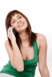 Mujer joven en el teléfono Foto de archivo