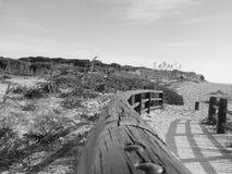 Mujer joven en la playa Fotografía de archivo