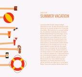 Mujer joven en la playa de la isla de Formentera ilustración del vector