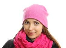 Mujer joven en ropa del invierno Foto de archivo