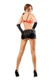 Mujer joven en miniskirt Fotos de archivo