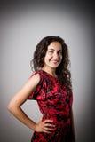 Mujer joven en rojo Foto de archivo