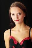 Mujer joven en ropa interior atractiva Foto de archivo libre de regalías