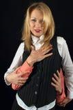 Mujer joven en sueños del amor Foto de archivo libre de regalías