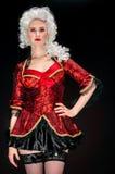 Mujer joven en traje barroco Imagenes de archivo