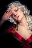 Mujer joven en traje barroco Fotos de archivo