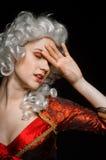 Mujer joven en traje barroco Foto de archivo libre de regalías
