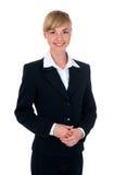 Mujer joven en un traje de negocios Imagen de archivo