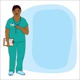 Mujer joven en uniforme médico, doctor o una enfermera Foto de archivo libre de regalías