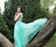 Mujer joven en vestido de la elegancia Imagenes de archivo