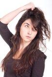 Mujer joven enojada Foto de archivo libre de regalías