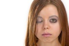 Mujer joven excéntrica Imagen de archivo libre de regalías