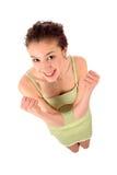 Mujer joven feliz Foto de archivo