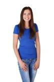 Mujer joven feliz del estudiante Imagen de archivo