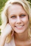 Mujer joven feliz en verano Imagen de archivo libre de regalías