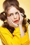 Mujer joven frustrada Foto de archivo libre de regalías