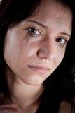 Mujer joven gritadora Imagenes de archivo