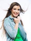 Mujer joven hermosa con el pelo largo Imagen de archivo