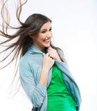 Mujer joven hermosa con el pelo largo Fotos de archivo libres de regalías