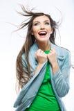 Mujer joven hermosa con el pelo largo Imagen de archivo libre de regalías