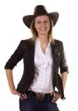 Mujer joven hermosa con el sombrero fotografía de archivo libre de regalías