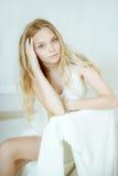 Mujer joven hermosa con la piel fresca limpia Fotografía de archivo libre de regalías