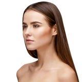 Mujer joven hermosa con la piel fresca limpia fotografía de archivo