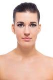 Mujer joven hermosa con la piel perfecta imagen de archivo libre de regalías