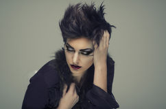 Modelo de moda hermoso Foto de archivo