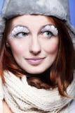 Mujer joven hermosa con las pestañas blancas Foto de archivo libre de regalías