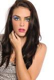 Mujer joven hermosa con maquillaje artístico Fotos de archivo libres de regalías