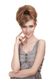 Mujer joven hermosa con maquillaje brillante Fotos de archivo libres de regalías