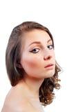 Mujer joven hermosa con maquillaje de la tarde Fotos de archivo libres de regalías