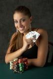 Mujer joven hermosa con rubor real Imágenes de archivo libres de regalías