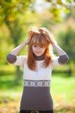 Mujer joven hermosa del adolescente del redhead Imagen de archivo libre de regalías