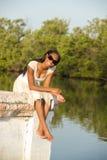 Mujer joven hermosa del afroamericano Fotografía de archivo