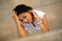 Mujer joven hermosa del kazakh Fotografía de archivo libre de regalías