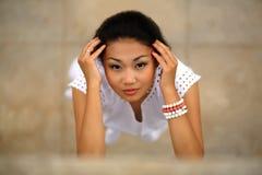 Mujer joven hermosa del kazakh Imagen de archivo
