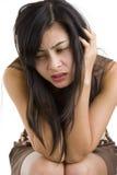 Mujer joven hermosa muy triste Imagen de archivo libre de regalías