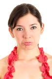Mujer joven hermosa que expresa tristeza Imágenes de archivo libres de regalías