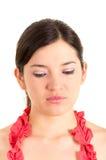Mujer joven hermosa que expresa tristeza Imagen de archivo libre de regalías